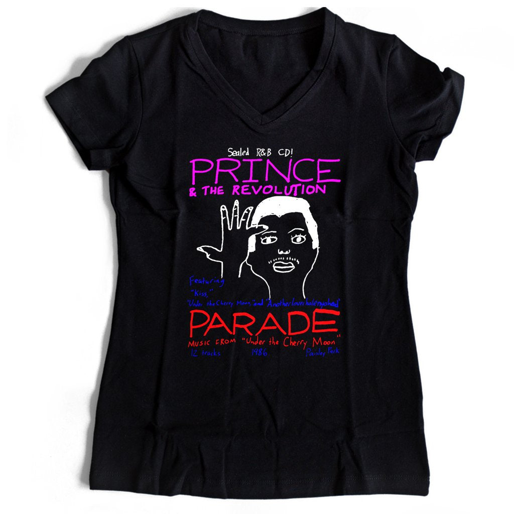 Prince And The Revolution Women's V-Neck Tee T-Shirt