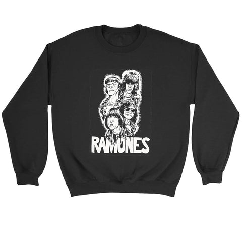Ramones Drawing Art Sweatshirt