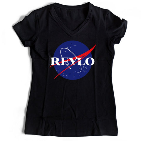 Reylo Nasa Parody Star Wars Women's V-Neck Tee T-Shirt
