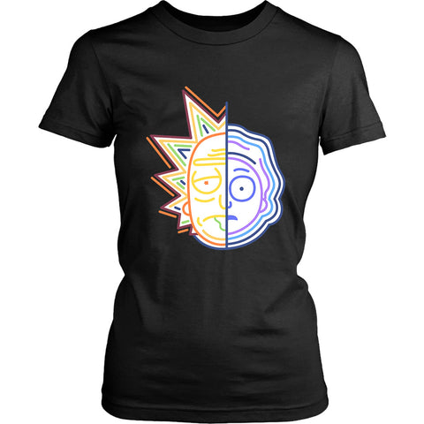 Rick And Morty Half Face Colors Women's T-Shirt