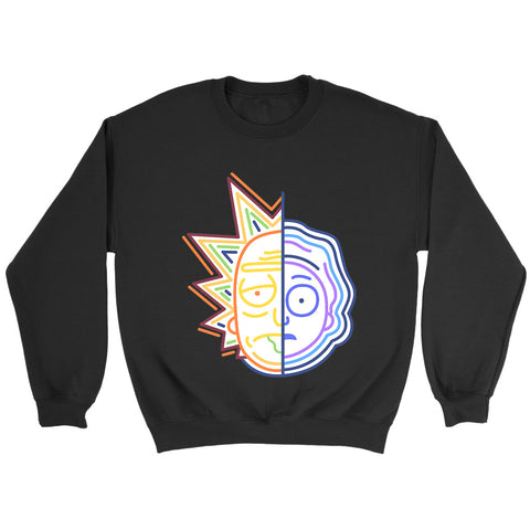 Rick And Morty Half Face Colors Sweatshirt