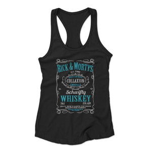 Ricks Schwifty Whiskey Comedy Woman's Racerback Tank Top