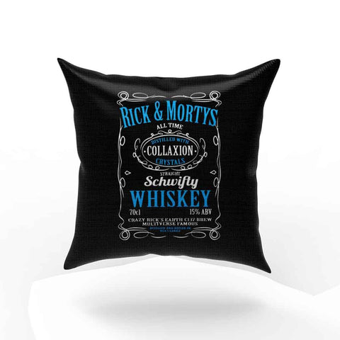 Ricks Schwifty Whiskey Comedy Pillow Case Cover