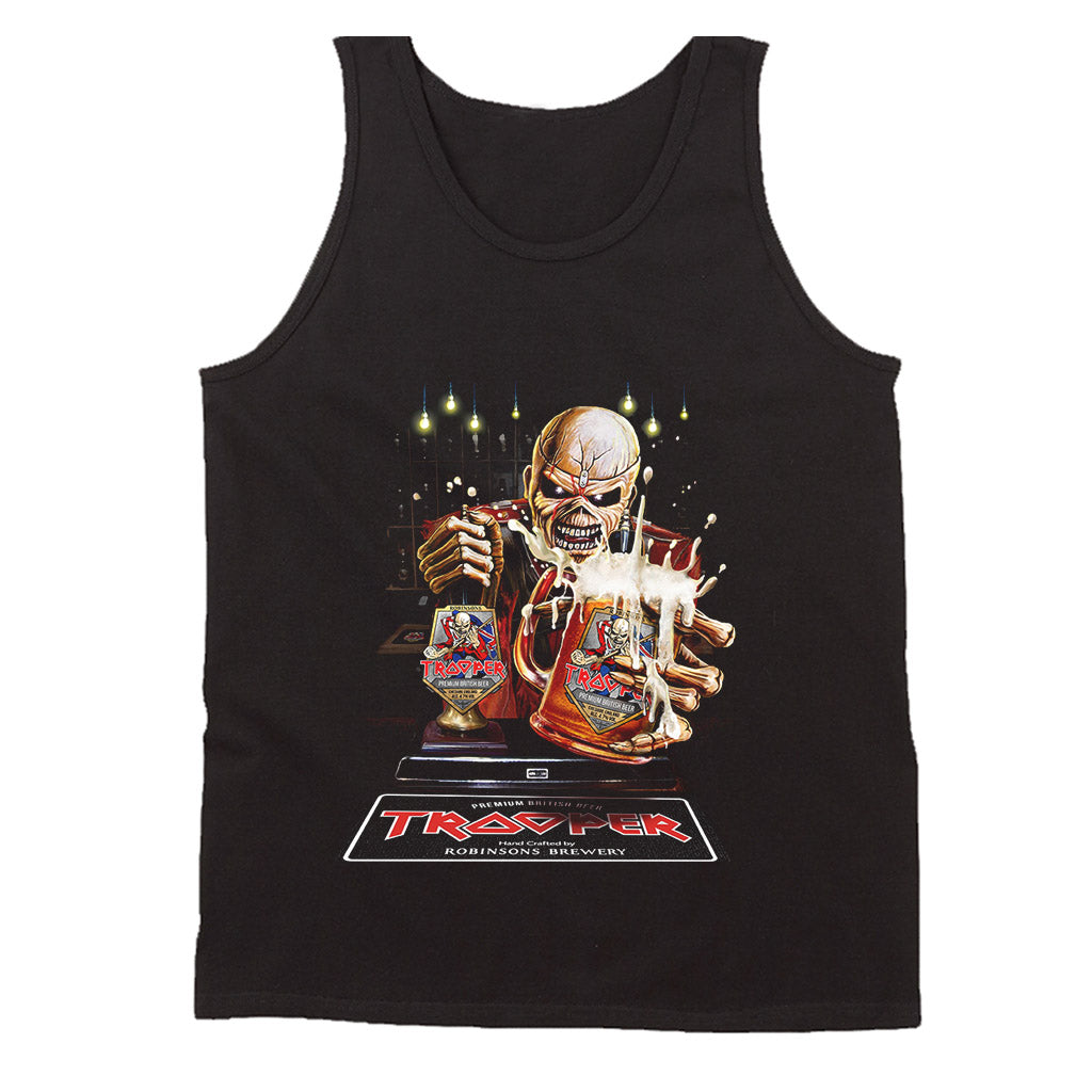 Robinsons And Iron Maiden Trooper Tour Parties  The Beer Is Here Men's Tank Top
