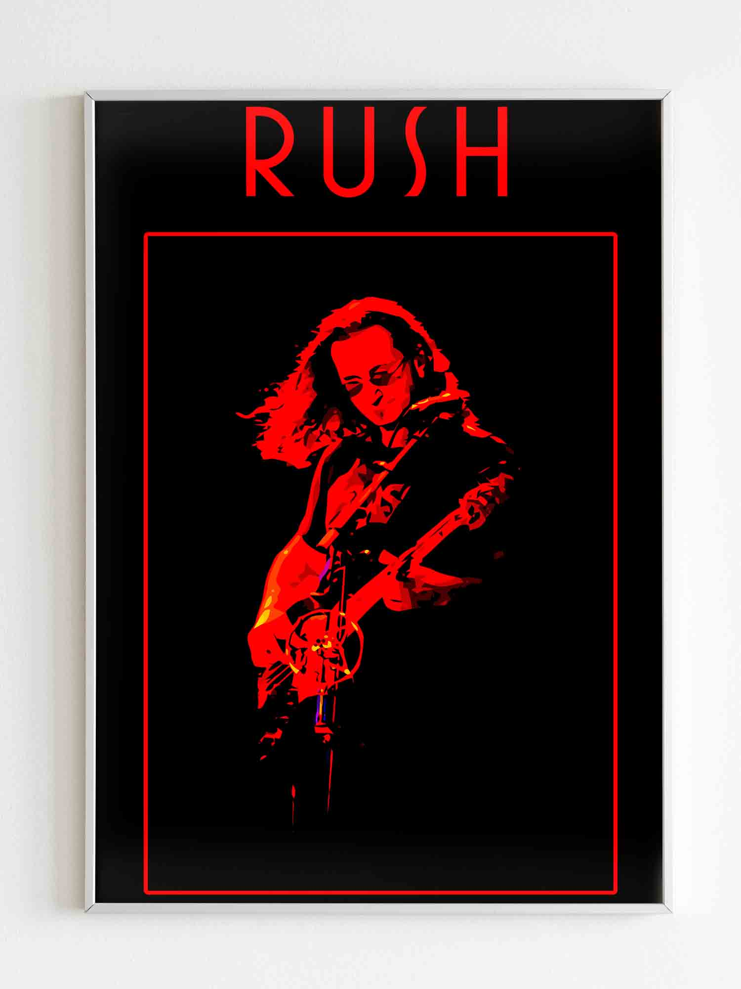 Rush Geddy Lee Poster