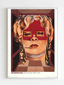 Salvador Dali Face Of Mae West Poster