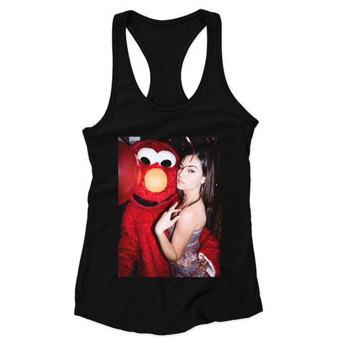 Sasha Grey Elmo Selfie Party Woman's Racerback Tank Top