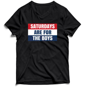 Saturday Are For The Boys Men's V-Neck Tee T-Shirt