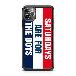 Saturday Are For The Boys iPhone Case