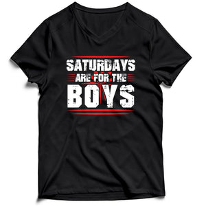 Saturdays Are For The Boys Funny Men's V-Neck Tee T-Shirt