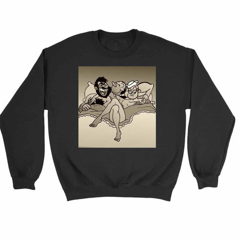 Slut Olive Oyl With Popeye And Bluto Sweatshirt