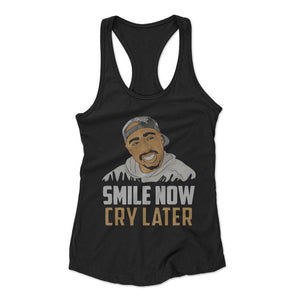 Smile Now Woman's Racerback Tank Top
