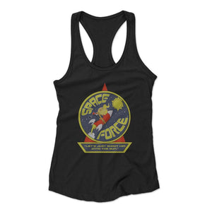 Space Force Lets Just Shoot Him Into The Sun Woman's Racerback Tank Top