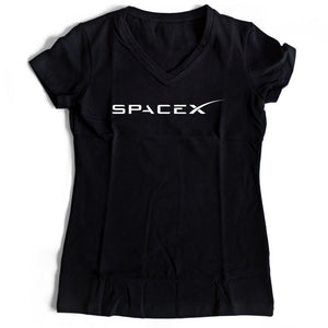 Spacex Nasa Women's V-Neck Tee T-Shirt