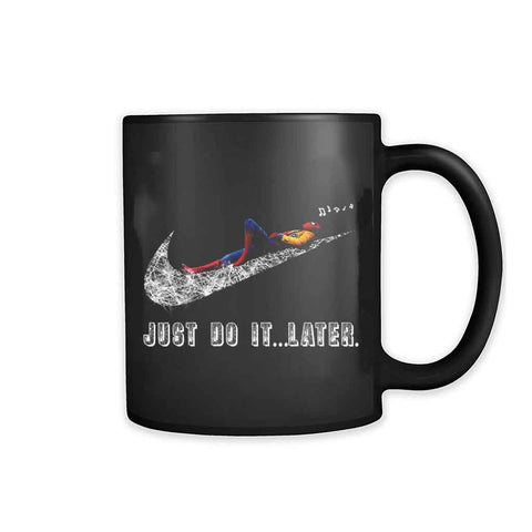 Spiderman Just Do It Later 11oz Mug