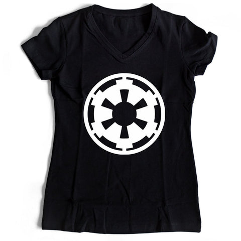 Star Wars Empire Logo Women's V-Neck Tee T-Shirt