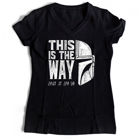 Star Wars Mandalorian Way Women's V-Neck Tee T-Shirt