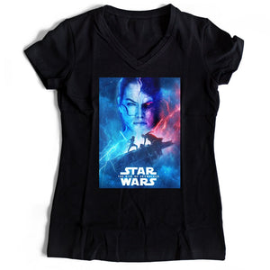 Star Wars Poster The Rise Of Skywalker Women's V-Neck Tee T-Shirt