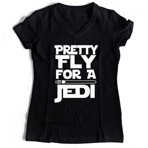 Star Wars Pretty Fly For A Jedi Women's V-Neck Tee T-Shirt