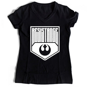 Star Wars Resistance Women's V-Neck Tee T-Shirt