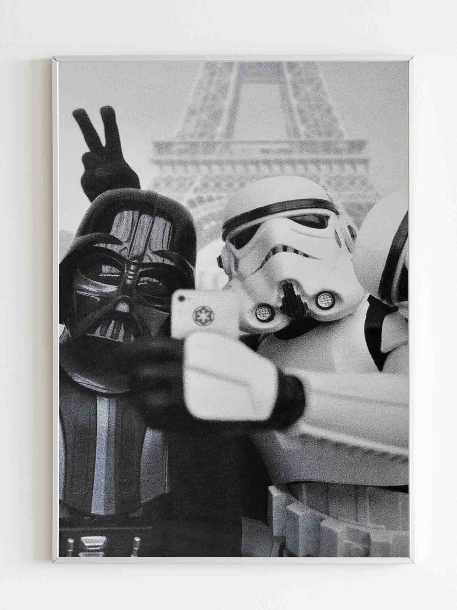 Star Wars Selfie Funny Parody Darth Poster