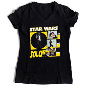 Star Wars Solo Story Women's V-Neck Tee T-Shirt