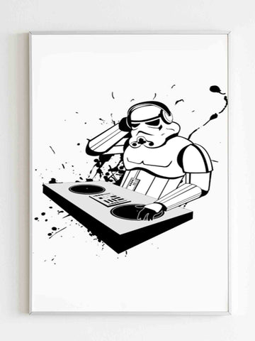Star Wars Stormtrooper Dj Party Poster