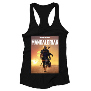 Star Wars The Mandalorian Poster Cover Woman's Racerback Tank Top