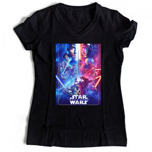 Star Wars The Rise Of Skywalker Women's V-Neck Tee T-Shirt