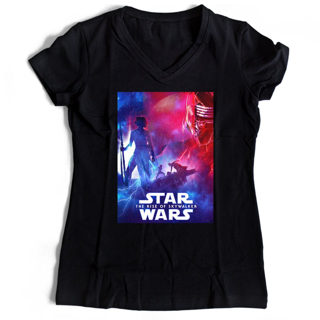 Star Wars The Rise Of Skywalker Cover Women's V-Neck Tee T-Shirt