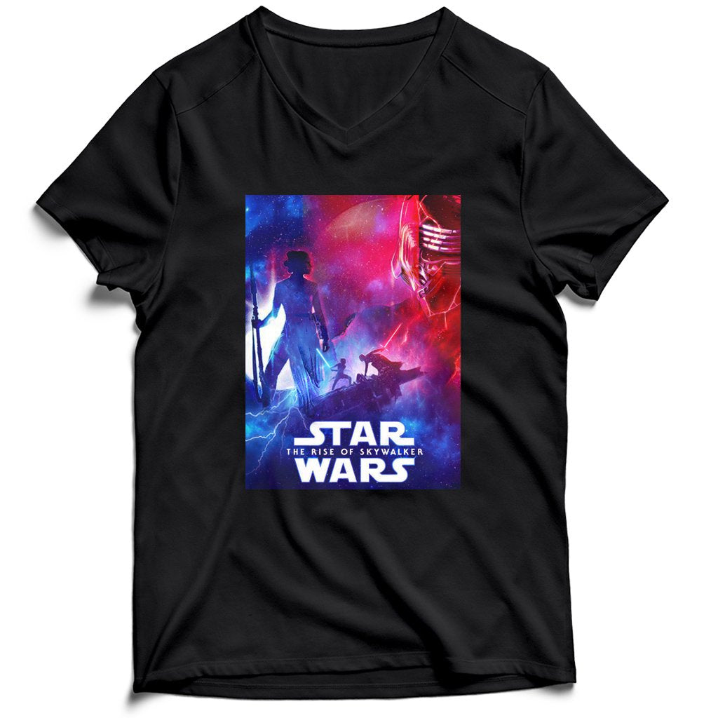 Star Wars The Rise Of Skywalker Cover Men's V-Neck Tee T-Shirt