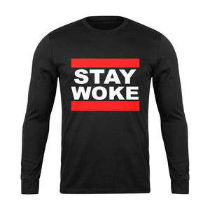 Stay Woke Run Dmc Font Long Sleeve T-Shirt