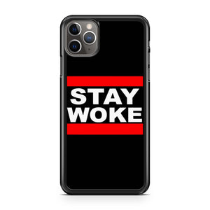 Stay Woke Run Dmc Font iPhone Case
