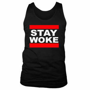 Stay Woke Run Dmc Font Men's Tank Top