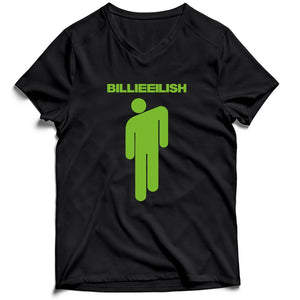 Stickman Billie Eilish Men's V-Neck Tee T-Shirt