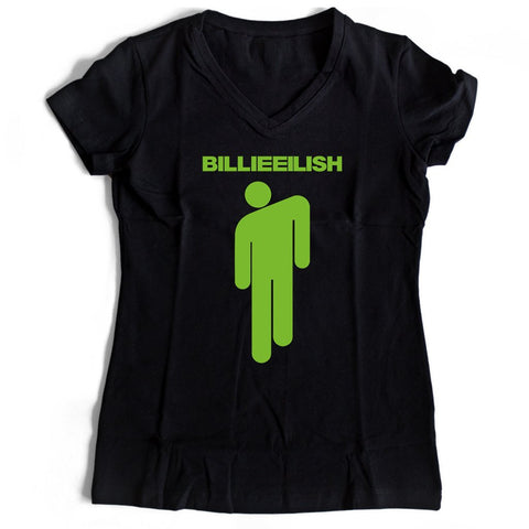 Stickman Billie Eilish Women's V-Neck Tee T-Shirt
