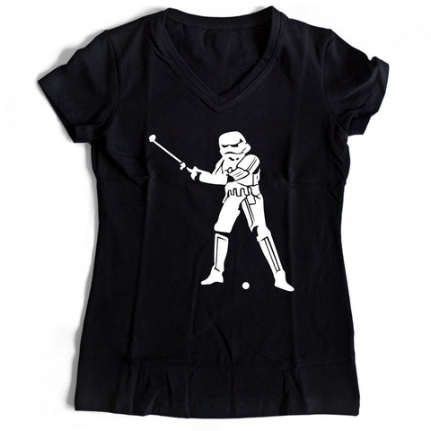 Stormtrooper Golf Star Wars Women's V-Neck Tee T-Shirt