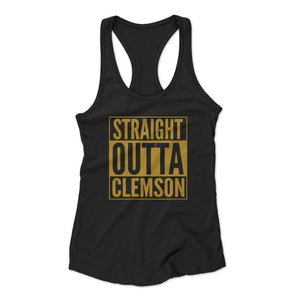 Straight Outta Clemson Woman's Racerback Tank Top