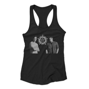 Supernatural Dean And Sam Winchester Woman's Racerback Tank Top