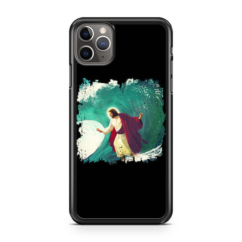 Surfing Jesus Surfing iPhone Case