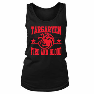 Targaryen House Fire And Blood Mother Of Dragons Game Of Thrones Women's Tank Top