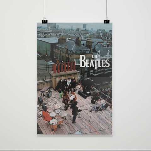 The Beatles Rooftop Concert Poster