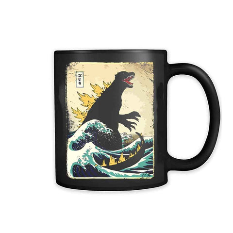 The Great Godzilla Off Kanagawa 11oz Mug