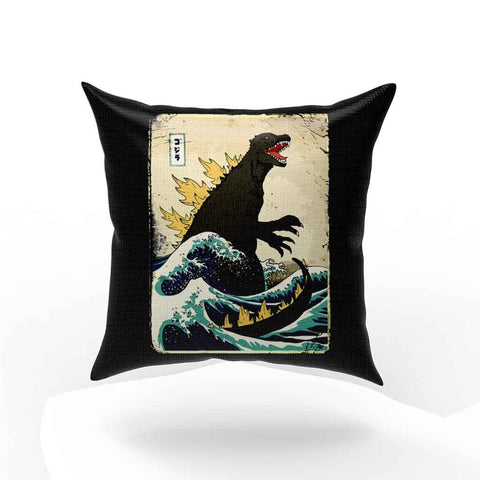 The Great Godzilla Off Kanagawa Pillow Case Cover