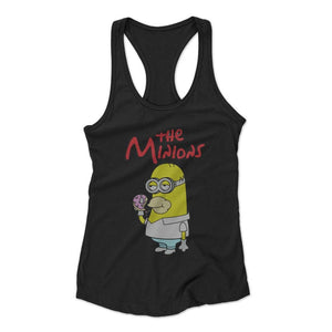 The Minions Parody Of The Simpsons And Minions Funny Woman's Racerback Tank Top
