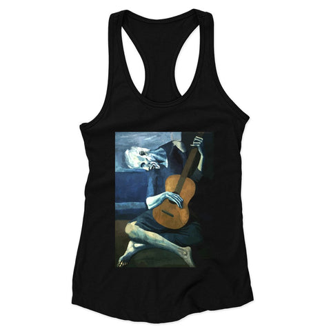 The Old Guitarist By Pablo Picasso Woman's Racerback Tank Top
