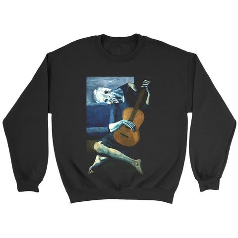 The Old Guitarist By Pablo Picasso Sweatshirt