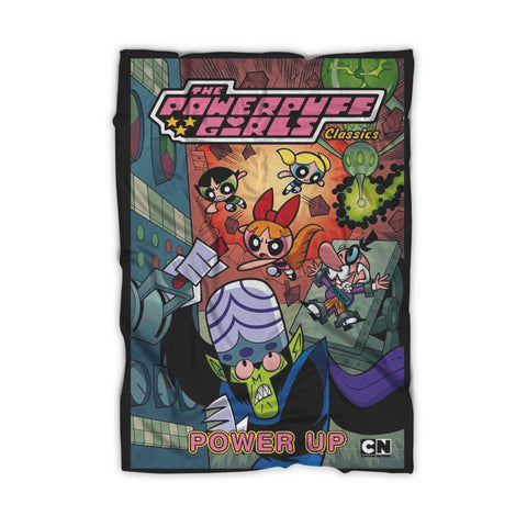 The Powerpuff Girls Classics Power Up Blanket