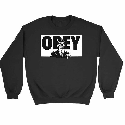 They Live Black Obey Sweatshirt