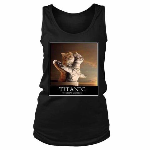Titanic Funny Cats Parody Cat Lover Women's Tank Top